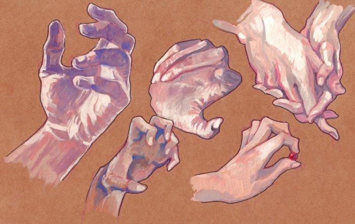 gouache_hands_study_by_hedgesloth-dag8ksa
